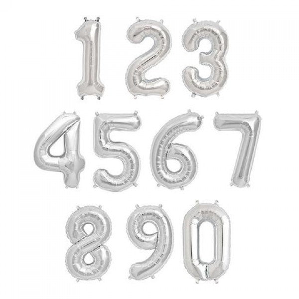 "40"" Number Foil Balloon (SILVER) *Helium*"