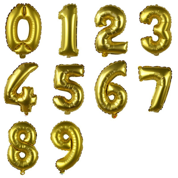 "14"" Number Small Foil (GOLD) *Normal Air*"