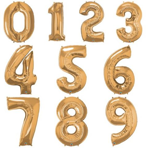"40"" Number Foil Balloon (GOLD) *Helium*"