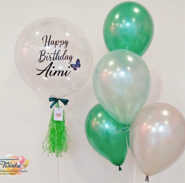 *JAN-FEB RM99* Forest Green Silver Theme *Helium*