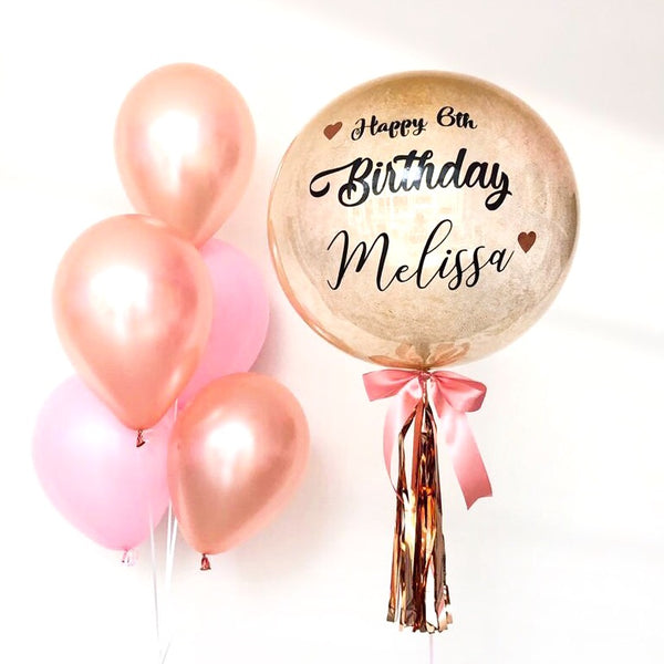 *March & April RM99* Rose Gold & Pink Theme *Helium*