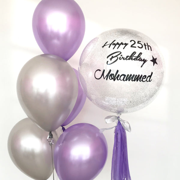 *JAN-FEB RM99* Purple & Silver Theme *Helium*