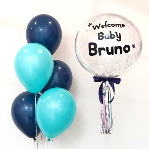 *OCT-NOV RM99* Navy Blue & Tiffany Blue Theme *Helium*