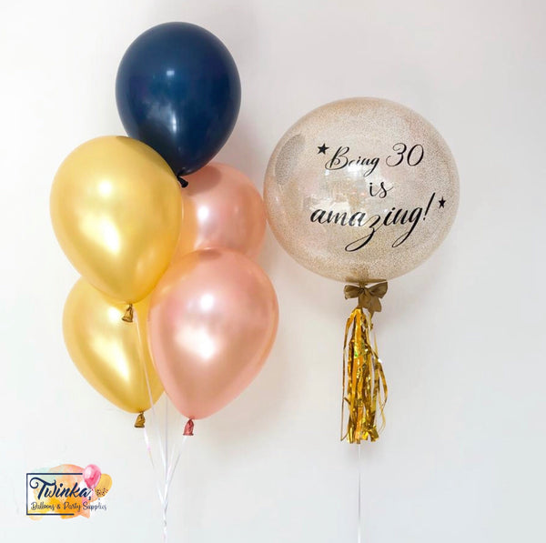 *March & April RM99* Gold, Rose Gold, Navy Blue Theme *Helium*