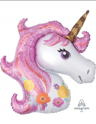 "Pink Unicorn - SuperShape  (33"") *Helium*"