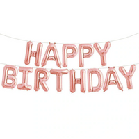 "16"" Happy Birthday Foil Garland (In a packet)"