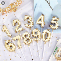 Gold Number Candle