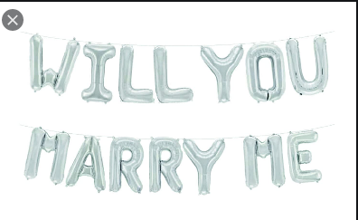 "16"" Will You Marry Me Foil Garland"