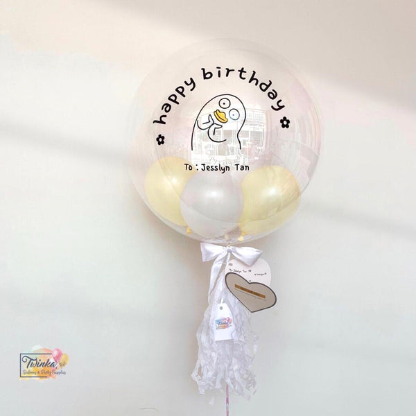 "(16"" Bubble Balloon) Duckie Design *Helium*"