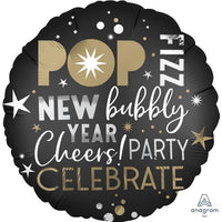 "POP New Bubbly Year Cheers! PARTY CELEBRATE (18"") *Helium*"