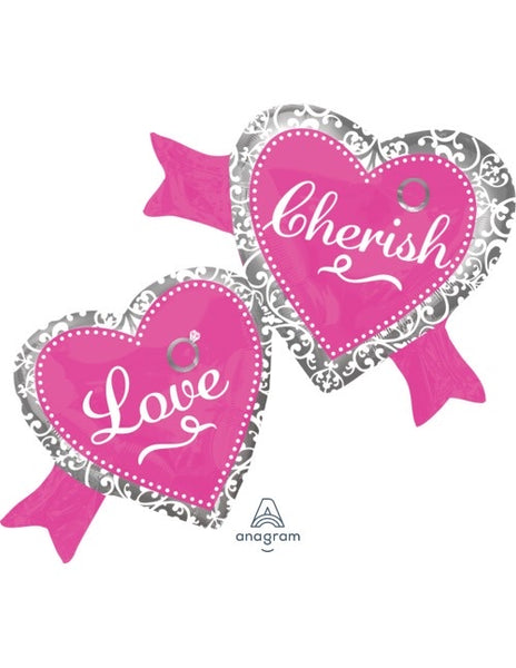 "Love, Cherish SuperShape (38.5"" x 27"") *Helium*"