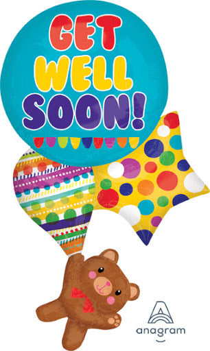 "Teddy, Get Well Soon! (33"") *Helium*"