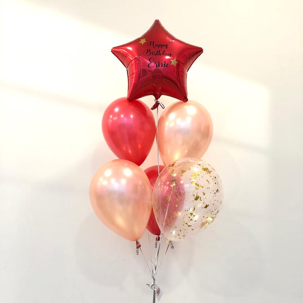 *JAN-FEB RM55* Red & Rose Gold *Helium*