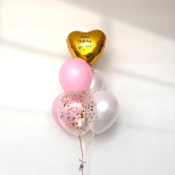 *JAN-FEB RM55* Pastel Pink & Gold *Helium*