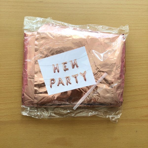 Hen Party Foil In Rose Gold