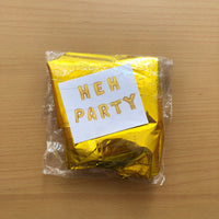Hen Party Foil In Gold