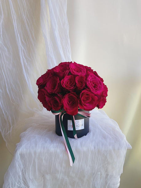 The Red Bloom Box (Fresh Roses) - 24 hours Pre-Order