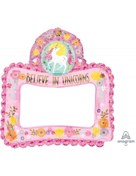 "Believe In Unicorns Inflatable Frame (26"" x 27"")"