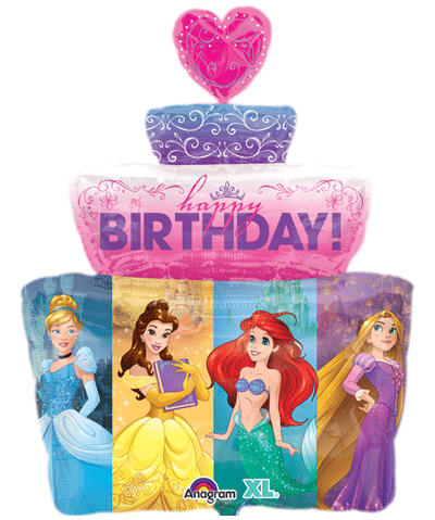 "Disney Princess Happy Birthday SuperShape (28"") *Helium*"