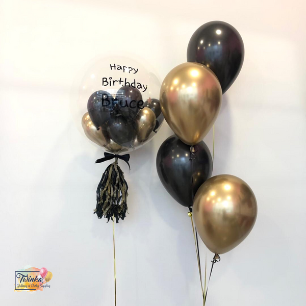 *March & April RM168* Chrome Gold & Black *Helium*