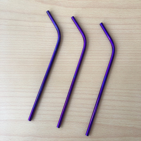 Metal Straw In Purple