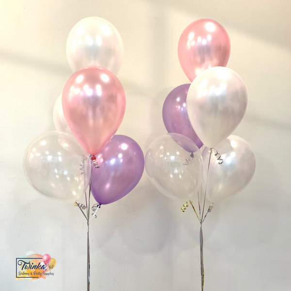 "*March & April RM45* 12"" Pink & Purple - 2 bunches *Helium*"