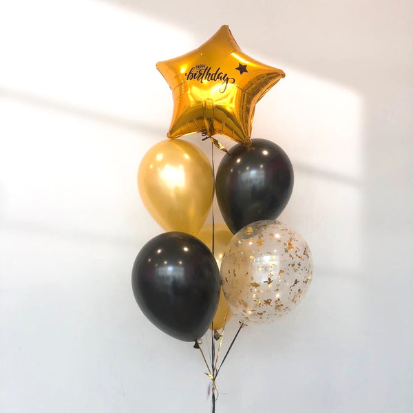 *JAN-FEB RM55* Gold & Black *Helium*