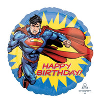 "Superman Happy Birthday (17"") *Helium*"