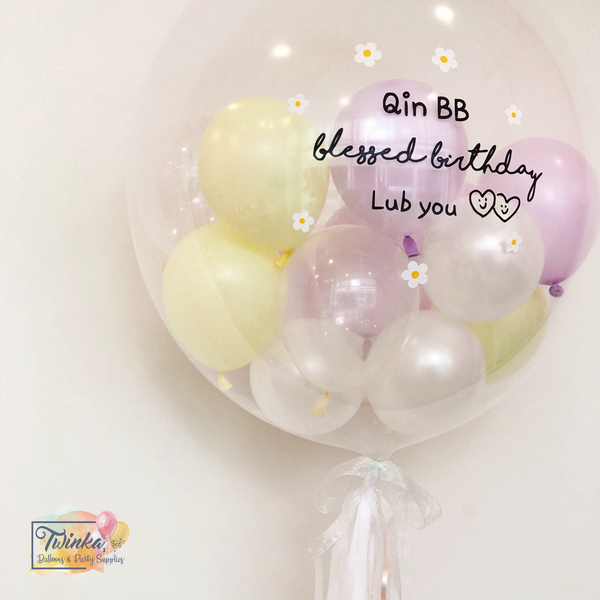 "(24"" Bubble Balloon) Chamomile  *Helium*"