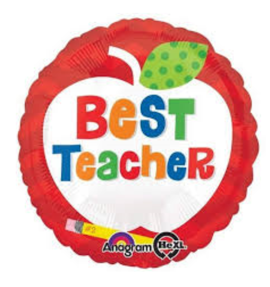 "Best Teacher (17"") *Helium*"