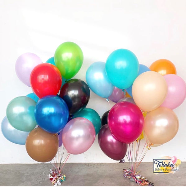 "12"" Latex Plain Balloon *Helium* (Price For One)"