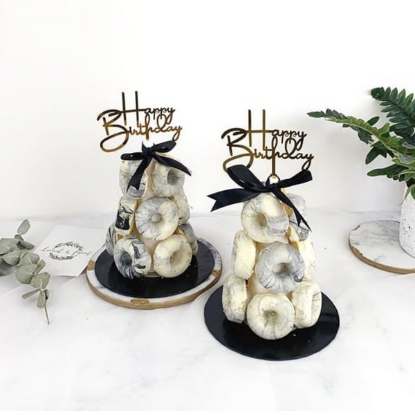Marble Donut Cone 20CM (2 days Preorder)