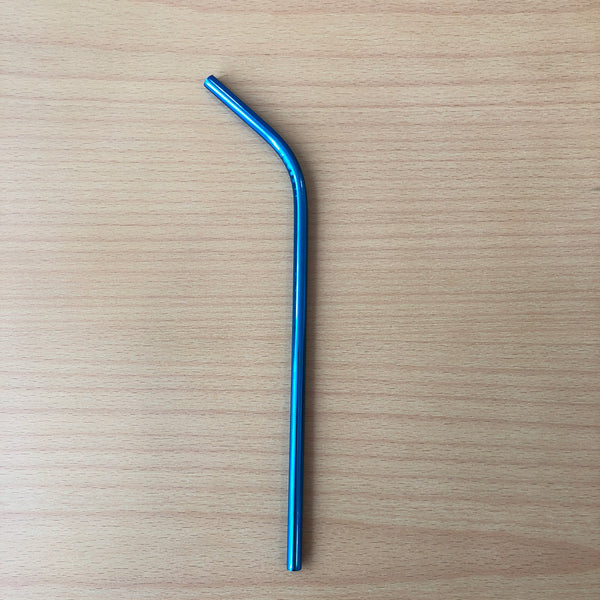 Metal Straw In Blue