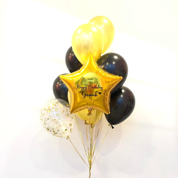 *JAN-FEB RM75* Gold & Black *Helium*