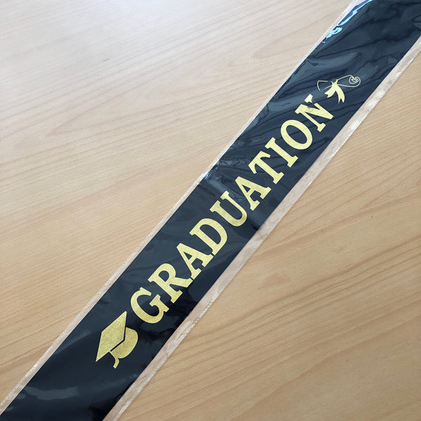 Graduation Sash In Black