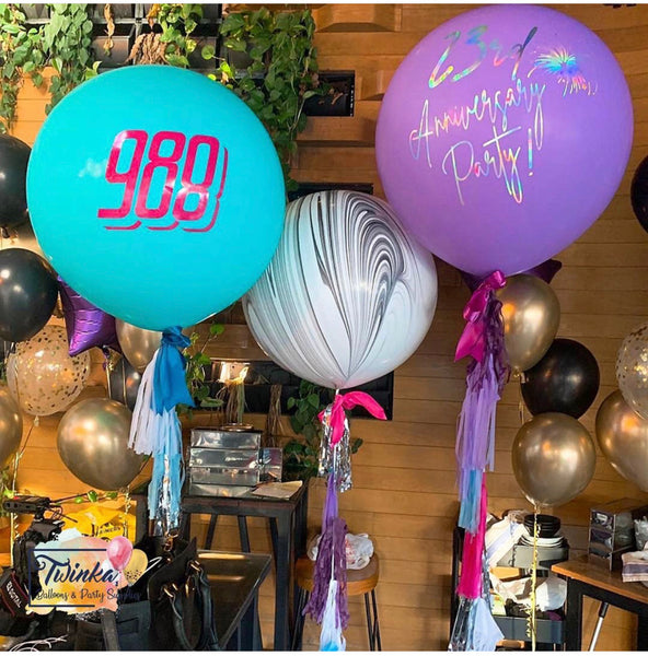 "36"" Latex Round Jumbo Balloon (Customized Wording) *Helium*"
