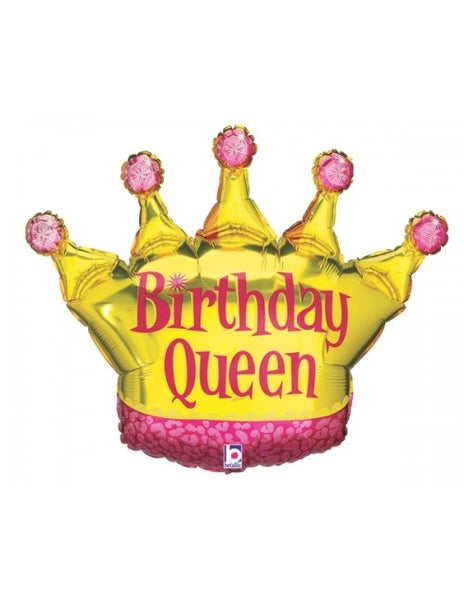 "Birthday Queen Crown LARGE (36"") *Helium*"