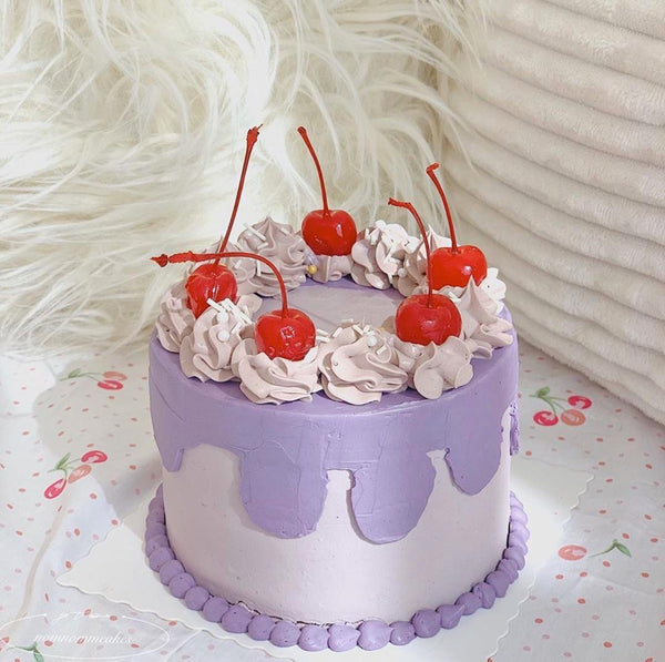 Purple Cherry Cream Cake (3 days Preorder)