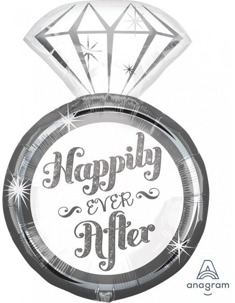 "Happily Ever After SuperShape (27"" x 18"") *Helium*"