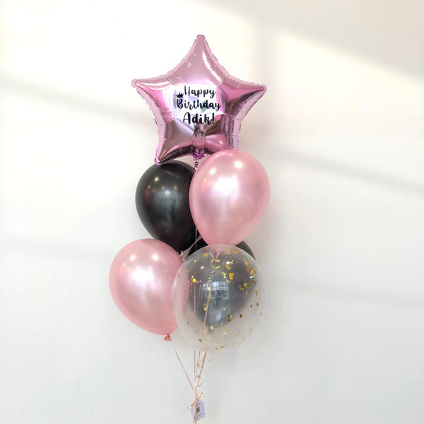 *March & April RM55* Black & Rose Gold *Helium*