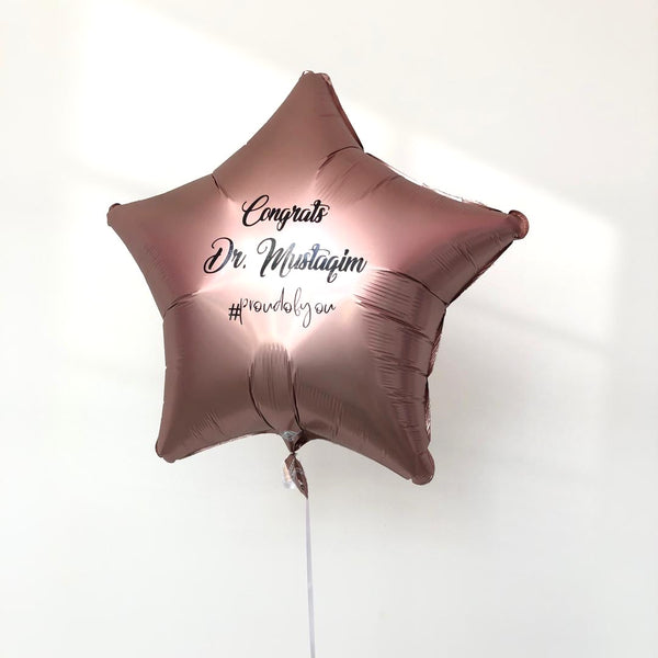 "18"" Foil with Customised Wording *Helium*"