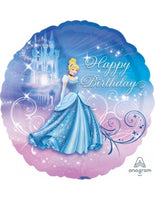 "Disney Princess Cinderella Happy Birthday  (17"") *Helium*"