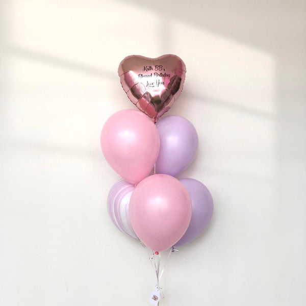 *JAN-FEB RM55* Pastel Pink & Purple *Helium*
