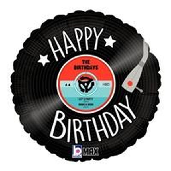"Happy Birthday Vinyl Disc (18"") *Helium*"