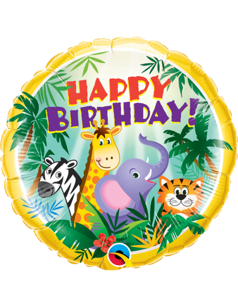 "Cute Animals Happy Birthday! (18"") *Helium*"