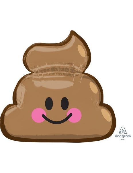"Smiley Poop SuperShape (25"" x 24"") *Helium*"