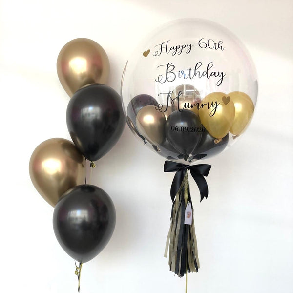*March & April RM168* Black Gold Bubble *Helium*