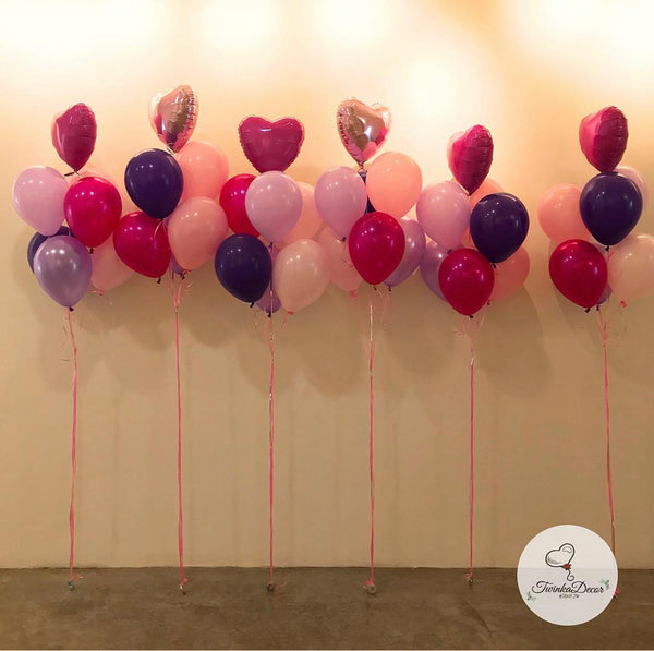 6 Balloon Bunch *Helium*