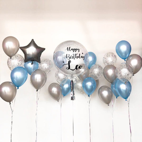 *OCT-NOV RM299* Blue & Silver *Helium*