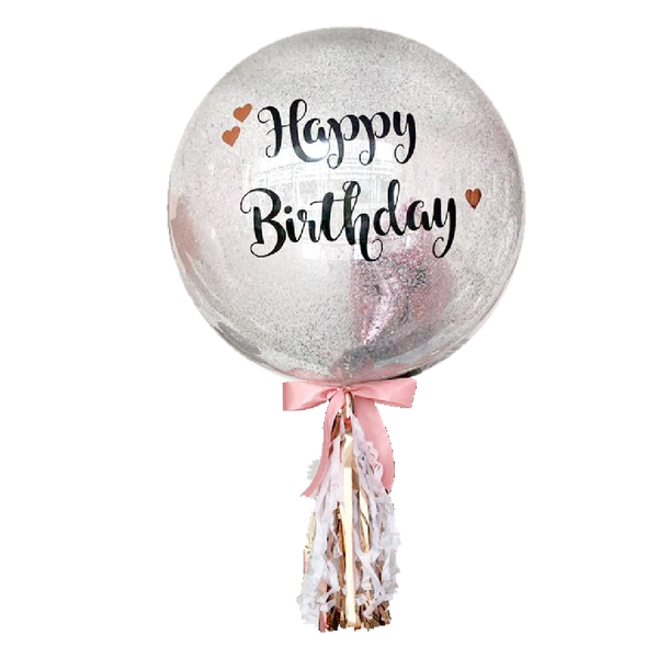 "24"" Confetti Balloon (Customised Wording) *Helium*"